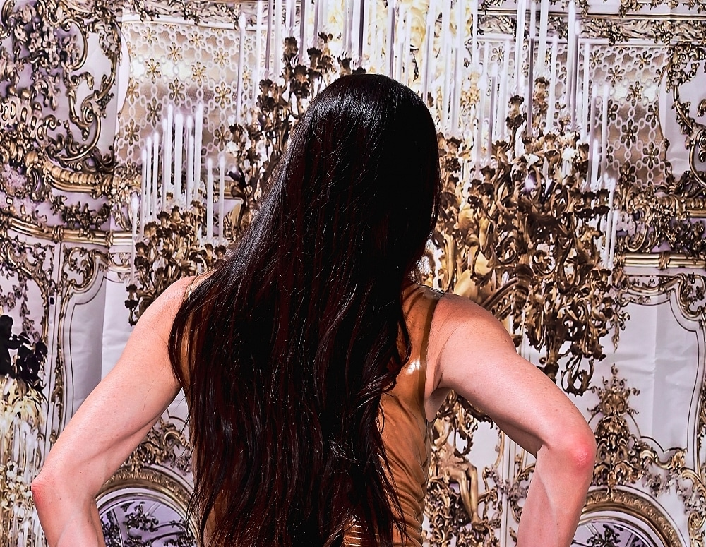 SofieMarieXXX/Latex Dress Gold Room
